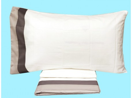 Completo Lenzuola Matrimoniale Singole Bianco Perla