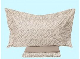 Completo lenzuola piazza e mezzo puro cotone pettinato Coralba