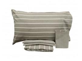 Completo lenzuola matrimoniale cotone tinto in filo - Cotton Joy