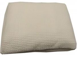 Completo lenzuola Matrimoniale Puro Cotone Bianco Perla
